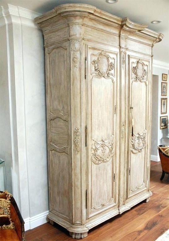French Wardrobes Regarding Preferred French Wardrobe Armoire Exotic Wardrobes And Century Large French (View 8 of 15)