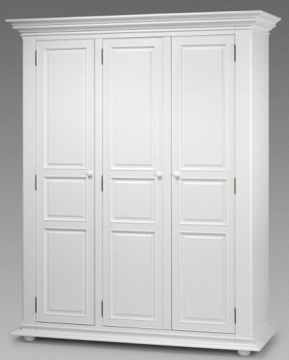 French White Wardrobes Pertaining To Preferred Julian Bowen Josephine White Bedroom Furniture – (Multi Buy (View 2 of 15)