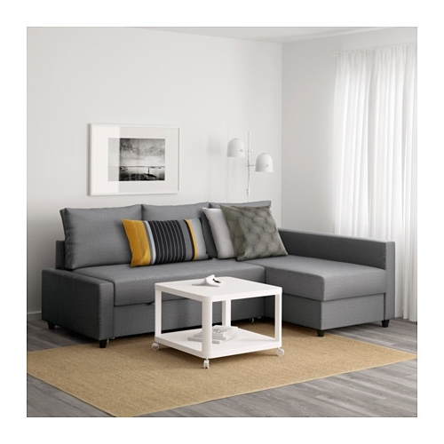 Friheten Corner Sofa Bed With Storage Skiftebo Dark Grey – Ikea For Trendy Ikea Corner Sofas With Storage (View 4 of 10)