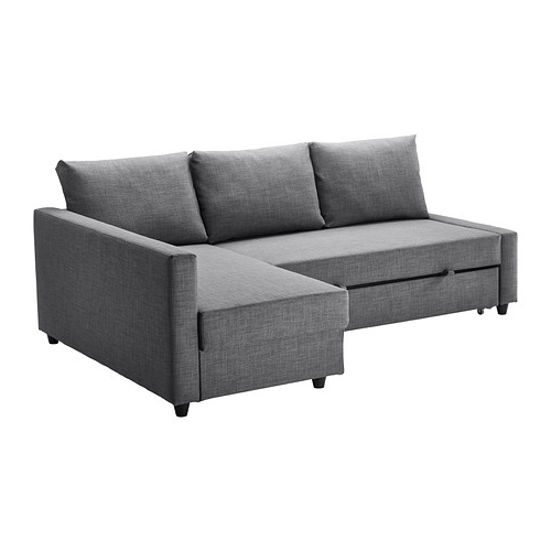 Friheten Corner Sofa Bed With Storage Skiftebo Dark Grey – Ikea In Latest Grey Sofa Chaises (View 5 of 15)