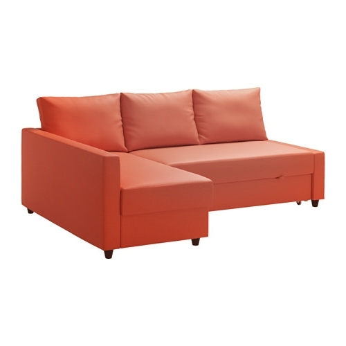 Friheten Corner Sofa Bed With Storage Skiftebo Dark Orange – Ikea In Well Known Ikea Sofa Beds With Chaise (View 9 of 15)