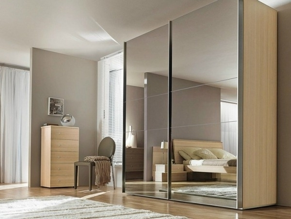 Full Mirrored Wardrobes For Most Recently Released Mirror Design Ideas: Furniture Sliding Bedroom Mirrored Wardrobes (View 4 of 15)