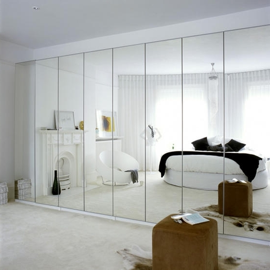 Full Mirrored Wardrobes Regarding Most Current Decorating Bedroom With Mirrors (View 8 of 15)
