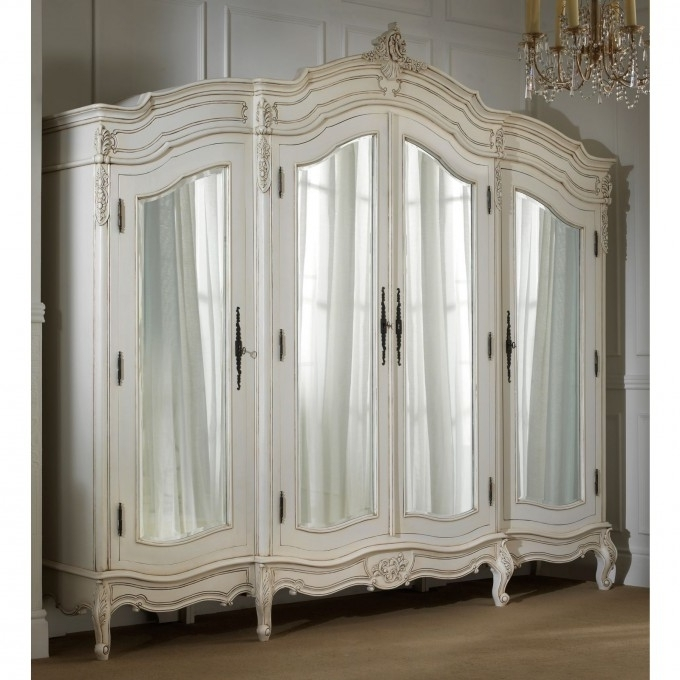 Furniture: Exciting Armoire Wardrobe For Interior Storage Design Regarding 2017 Antique White Wardrobes (View 8 of 15)
