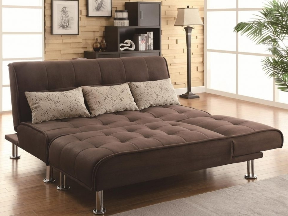 Futons With Chaise Lounge With Regard To Popular ▻ Sofa : 8 Wonderful Brown Futon Sofa Bed Coaster 300277 Brown (View 10 of 15)
