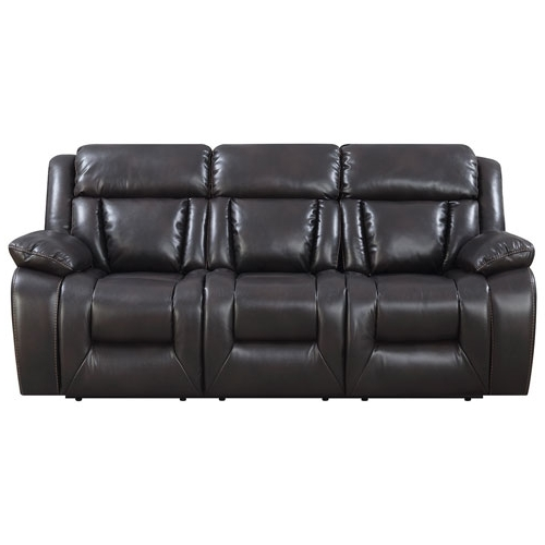 Geneva Contemporary 3 Piece Recliner Sectional Sofa – Espresso With Regard To Recent Newfoundland Sectional Sofas (View 3 of 10)