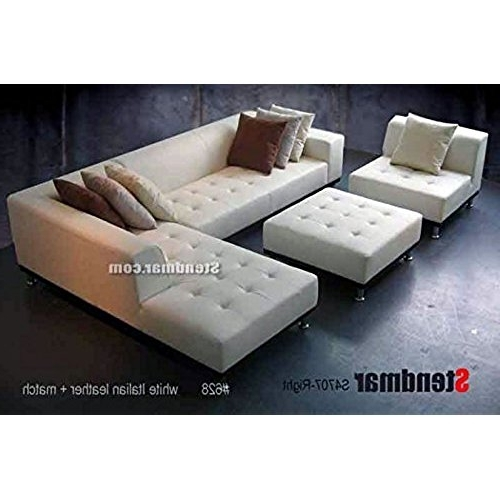 Genuine Leather Sectionals With Chaise Inside Recent Genuine Leather Sectional: Amazon (View 4 of 15)