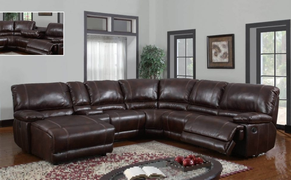Genuine Leather Sectionals With Chaise Within Widely Used Sofa : Small Leather Sectional Modern Sectional Living Room (View 6 of 15)