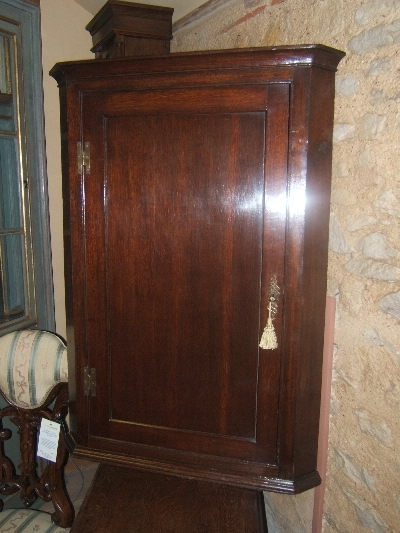 George Ii Oak Corner Cupboard – Antique Oak Cupboard Uk Inside Most Recently Released Oak Corner Wardrobes (View 6 of 15)