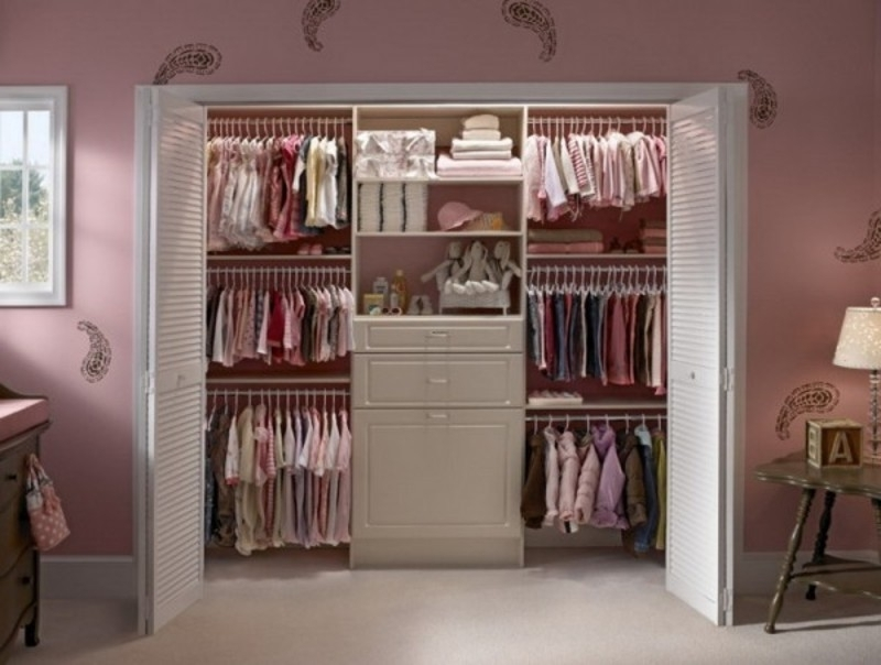 Girl Wardrobe Designs: Combination Of Pink And White Color – Hitez Intended For Widely Used Girls Wardrobes (View 11 of 15)