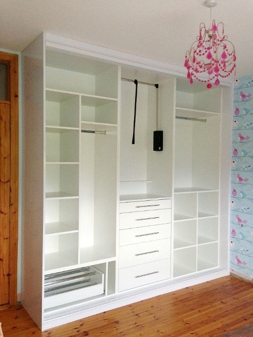 Girls Pink And White Sliding Wardrobe (View 3 of 15)
