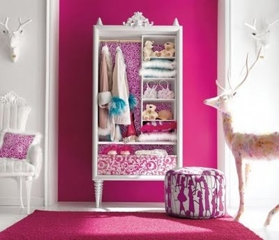 Girls Wardrobes With Regard To Current Charming Pink Girls Bedroom Design Idea (View 5 of 15)