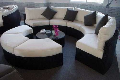 Glamorize Your Living Spaces With Adding Round Sectional Sofas Within Famous Rounded Sofas (View 2 of 10)