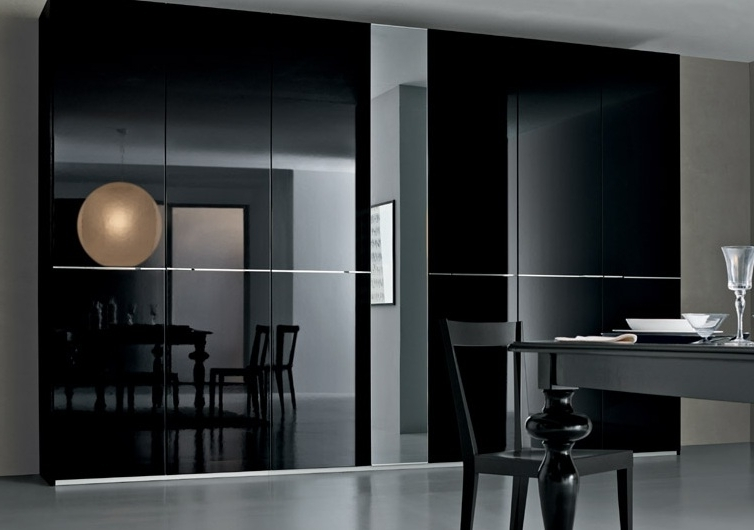 Gloss Black Wardrobes Intended For Widely Used Kleiderhaus Fitted Bedrooms And Fitted Wardrobes London (View 4 of 15)