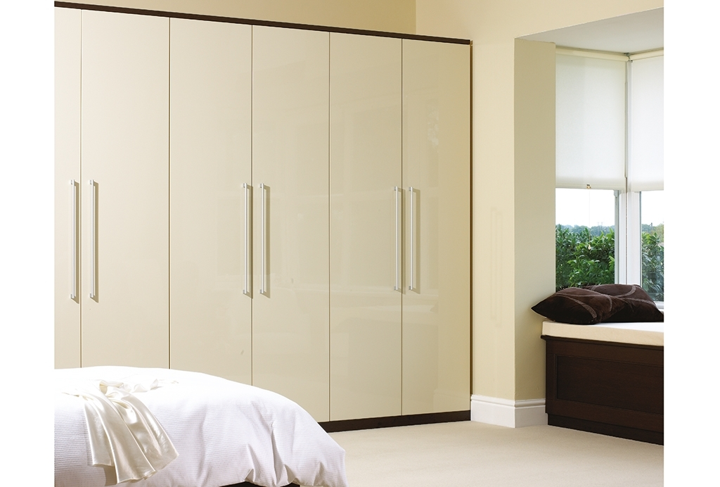 Gloss Fitted Wardrobe Inside 2017 Cream Wardrobes (Gallery 6 of 15)