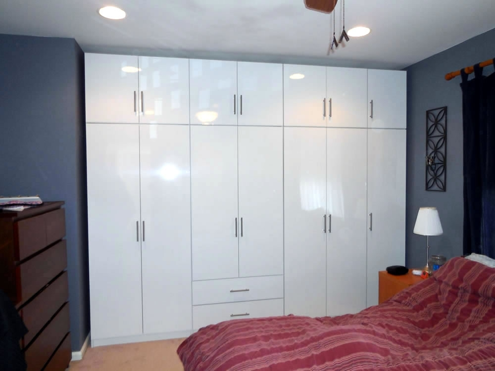 Glossy White Wardrobe Set – 14 Doors Of Bedroom Storage With Regard To Latest Cheap White Wardrobes Sets (View 11 of 15)