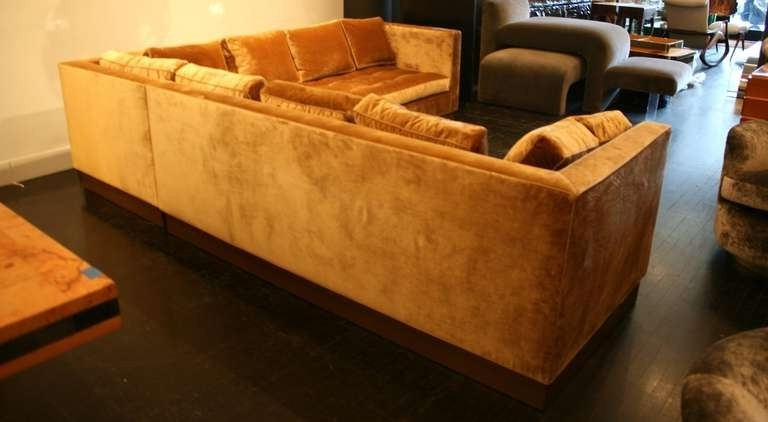 Gold Sectional Sofas Inside Best And Newest Beautiful Gold Sectional Sofa – Buildsimplehome (Gallery 2 of 10)