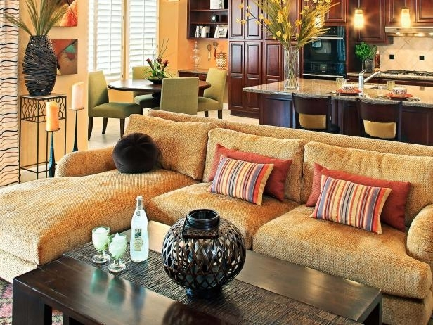 Gold Sectional Sofas Inside Most Up To Date Gold Sectional Sofa – Home Design Ideas And Pictures (Gallery 9 of 10)