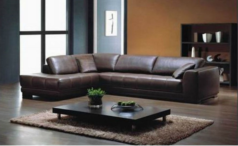 Good Quality Sectional Sofas Within Widely Used Sectional Sofa: High Quality Leather Sectional Sofas Coffee (View 6 of 10)