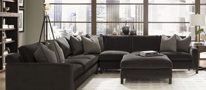 Goose Down Sectional Sofas With Regard To Most Recent Sectional Sofa:  Magnificent Down Filled Sectional