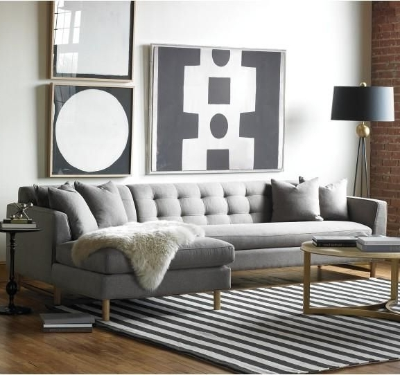 Gray Couches With Chaise Within Favorite 12 Best Home: Couches (Ap & Rb) Images On Pinterest (View 6 of 15)