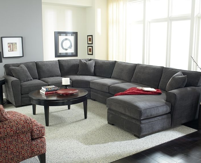 Gray Sectional Sofas With Chaise Regarding Preferred Gray Sectional Sofa Plus Also Large Grey Sectional Sofa With (Gallery 6 of 15)