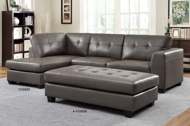 Gray Sectional Sofas With Chaise Throughout Trendy Fantastic Small Leather Sectional Sofas Homelegance Modern Small (Gallery 12 of 15)
