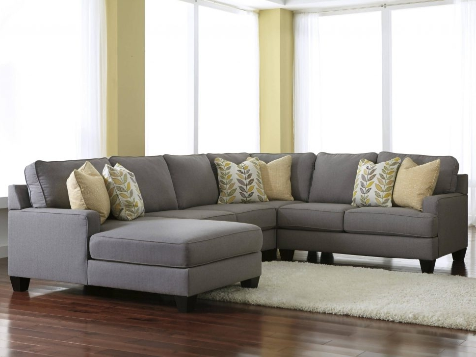 Gray Sectionals With Chaise With Regard To Popular Sofa : Gray Leather Reclining Sectional Chaise Sofa Modern Grey (View 8 of 15)