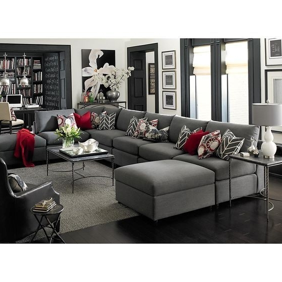 Gray U Shaped Sectionals Intended For Well Known We Have The Finest Step For U Shaped Couches Canada. Description (Gallery 7 of 10)