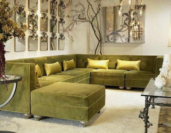Green Sectional Sofas With Latest Fresh Olive Green Sectional Sofa – Interior (Gallery 10 of 10)