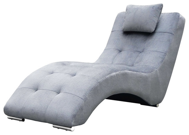 Grey Chaise Lounge Chairs Within 2018 Pretty Design Grey Chaise Lounge Chair Stealth Fabric And Polished (Gallery 15 of 15)