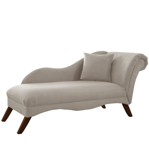 Grey Chaise Lounges Throughout Latest Skyline Furniture Chaise Lounge In Velvet Light Grey – Free (View 8 of 15)