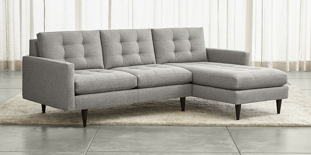 Grey Chaise Sectionals For Favorite Sectional Sofa Design: Amazing Sofa Chaise Sectional Leather (View 4 of 15)