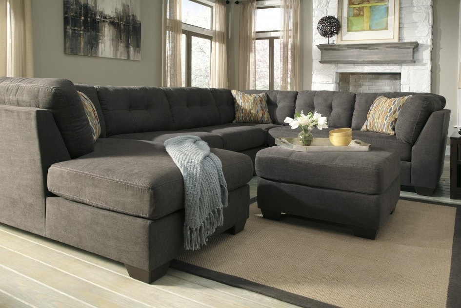 Grey Couches With Chaise With Fashionable Sofas & Sectionals Contemporary Grey Sectional Sofa Chaise Tufted (View 6 of 15)
