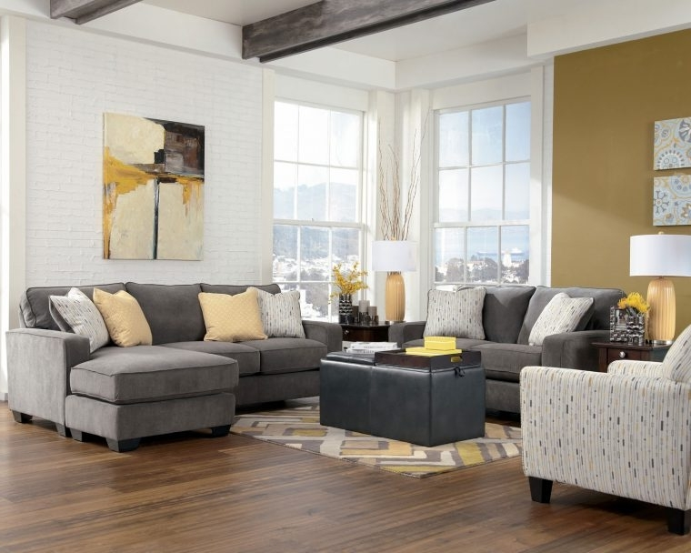 Grey Sofa Chairs Within Trendy Grey Living Room Chairs With Grey Sofa And Cushion Also Laminate (View 5 of 10)