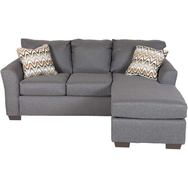 Grey Sofa Chaises Intended For Fashionable Ryleigh Grey Sofa With Chaise D1 3903S (Gallery 4 of 15)