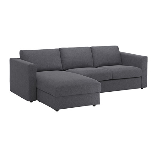 Grey Sofas With Chaise Within Latest Vimle Sofa – With Chaise/gunnared Medium Gray – Ikea (View 12 of 15)