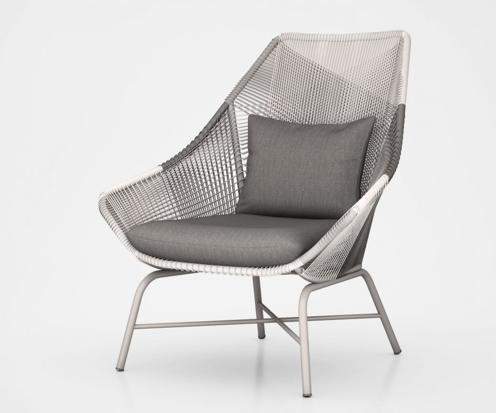 Grey Wicker Chaise Lounge Chairs In 2018 Lounge Chair : Lounge Chair Grey Tufted Armchair Dorm Lounge (View 4 of 15)
