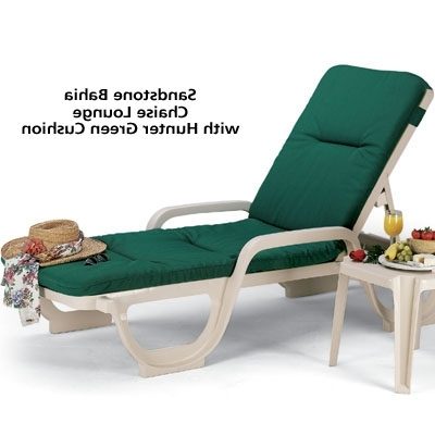 Grosfillex 44031066 – Bahia Stackable Chaise Lounge Chair Pertaining To Well Known High Quality Chaise Lounge Chairs (View 4 of 15)