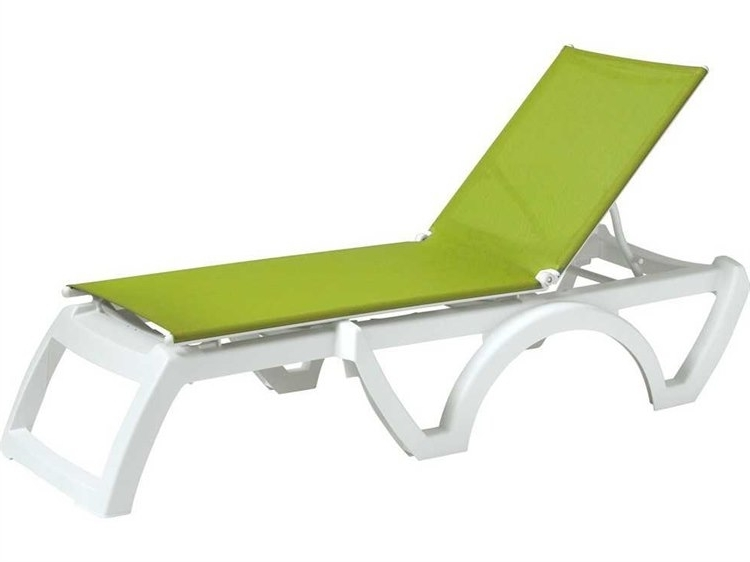 Grosfillex Calypso Resin Sling White Chaise (Sold In 2) (View 6 of 15)