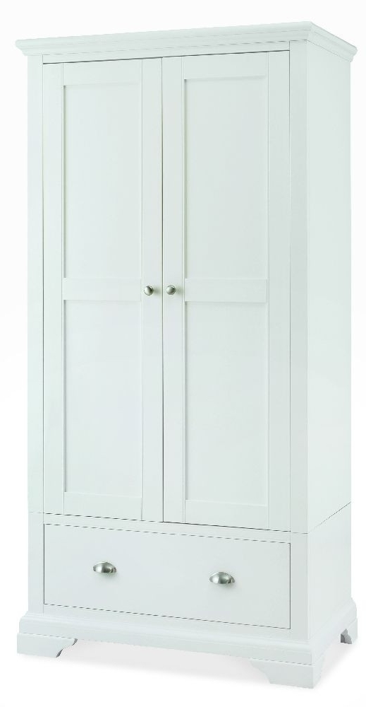 Hampstead White 2 Door Wardrobe Pertaining To White 2 Door Wardrobes With Drawers (View 7 of 15)