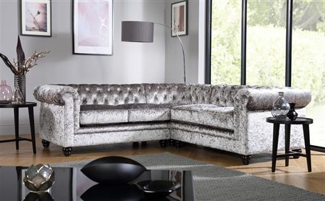 Hampton Chesterfield Ivory Leather Corner Sofa Only £1099.99 With Regard To Trendy Velvet Sofas (Gallery 2 of 10)
