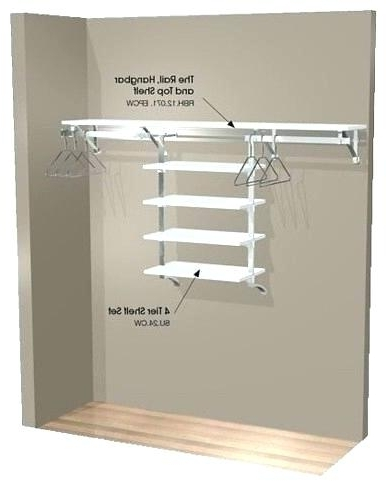 Hanging Wardrobes Shelves For Most Recently Released Hanging Shelf Storage Hanging Closet Shelves Brilliant Hanging (View 7 of 15)