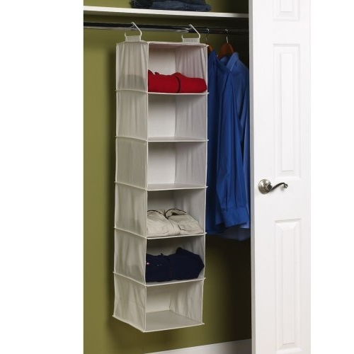 Hanging Wardrobes Shelves With Most Recent Amazon: Household Essentials 311312 Hanging Closet Organizer (View 10 of 15)