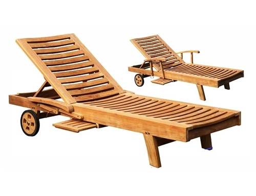 Hardwood Chaise Lounge Chairs Throughout Newest Teak Chaises & Teak Loungers : Teak Outdoor Furniture From Benchsmith (View 5 of 15)