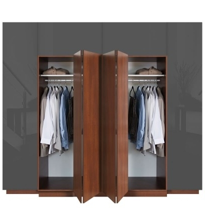 Hawthorne Wardrobe His & Her Closet With Bifold Folding Doors Intended For Trendy Folding Door Wardrobes (View 7 of 15)