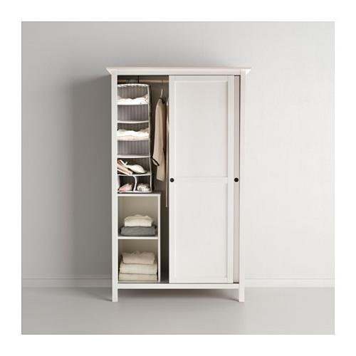 Hemnes Wardrobe With 2 Sliding Doors White Stain 120X197 Cm – Ikea Pertaining To Recent 2 Sliding Door Wardrobes (View 9 of 15)