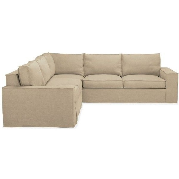 "Hewitt 110X110"" Sectional W/left Arm Corner Sofa Slipcovered In In Best And Newest 110X110 Sectional Sofas (Gallery 1 of 10)"