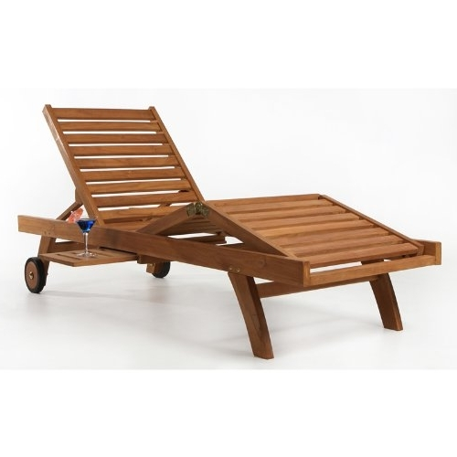 High Quality Chaise Lounge Chairs Within Trendy Teak Chaise Lounge Chair – Teak Patio Furniture World (Gallery 12 of 15)