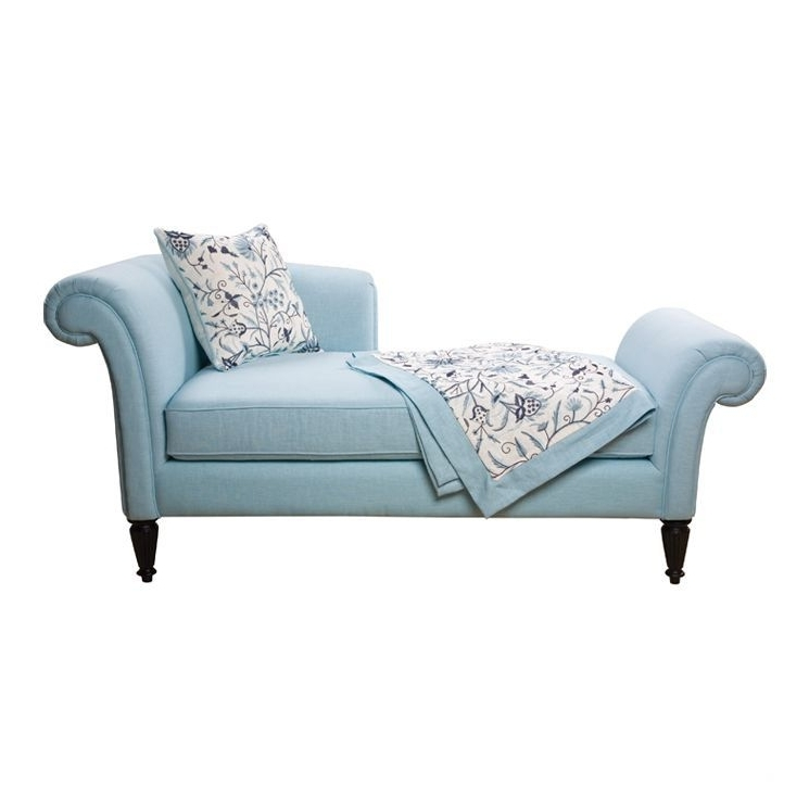 Home Decor: Cashmir Fainting Chaise Lounge In Light Blue #sofa Inside 2018 Sofa Chaise Lounges (View 11 of 15)